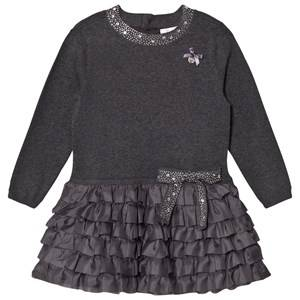 Le Chic Girls Dresses Grey Grey Ruffle Dress