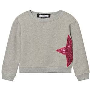Relish Girls Jumpers and knitwear Black Grey Sequin Star Sweatshirt