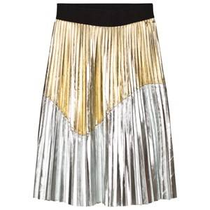 Relish Girls Skirts Gold Gold and Silver Pleated Skirt