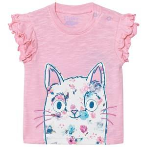 Hatley Girls Tops Pink Pink Cat Tee