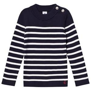 Petit Bateau Unisex Jumpers and knitwear Blue Marine White Striped Nautical Sweater