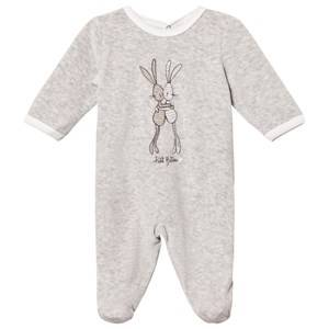 Petit Bateau Unisex All in ones Grey Grey Rabbit Footed Baby Body