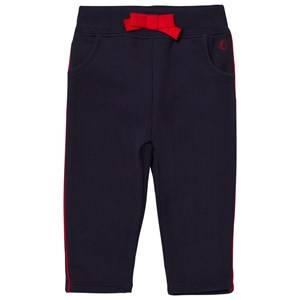 Petit Bateau Unisex Bottoms Blue Marine Blue Sweatpants with Red Piping