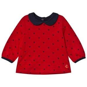 Petit Bateau Girls Tops Red Blouse Red/Marine