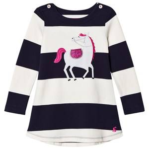Tom Joule Girls Dresses Navy Navy/White Stripe Horse Applique Dress