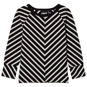 Papu Unisex Tops Black Stripe Fold Shirt