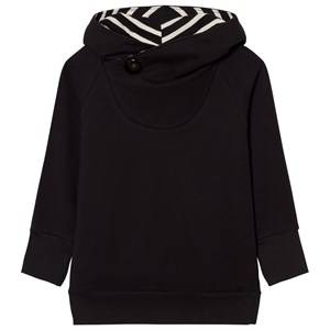 Papu Unisex Jumpers and knitwear Black Button Hoodie Black