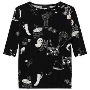 Papu Unisex Tops Black Night Boxy Tunic