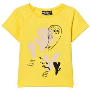 Papu Unisex Tops Yellow Curious Print Tee Yellow