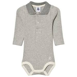 Petit Bateau Unisex All in ones Grey Baby Body Miller Grey Creme