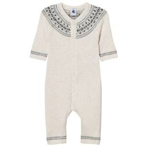 Petit Bateau Unisex All in ones White One-Piece Lait Creme