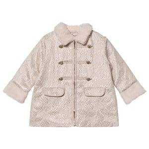 Billieblush Girls Coats and jackets Cream Cream Jacquard Military Coat