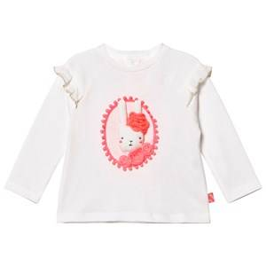 Billieblush Girls Tops White White 3D Applique Bunny Tee