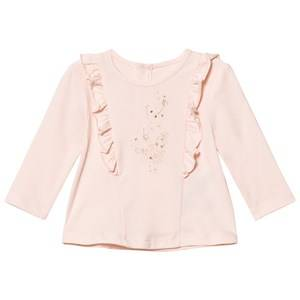 Billieblush Girls Tops Pink Pale Pink Ruffle Tee
