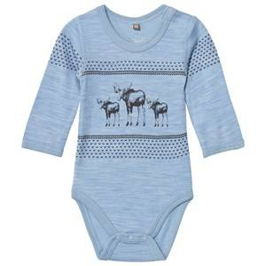 Hust&Claire; Boys All in ones Blue Baby Body Blue Dawn Melange