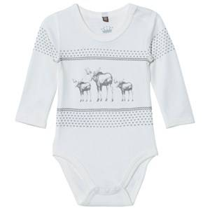 Hust&Claire; Unisex All in ones Cream Baby Body Off White