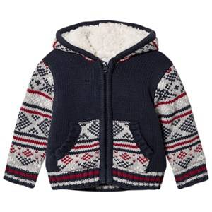 Absorba Boys Coats and jackets Blue Blue Fairisle Knit Jacket with Teddy Lining
