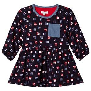 Absorba Girls Dresses Navy Navy Shoe Print Dress