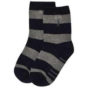 Ralph Lauren Boys Underwear Navy Stripe Socks Navy/Grey