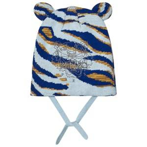 Kenzo Boys Headwear Blue Blue Tiger Embroidered Beanie with Ears
