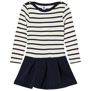 Petit Bateau Girls Dresses White Marine Stripe Dual Dress