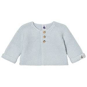 Petit Bateau Unisex Jumpers and knitwear Blue Knit Cardigan Light Blue