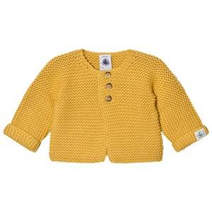 Petit Bateau Unisex Jumpers and knitwear Yellow Knit Cardigan Ocre Yellow
