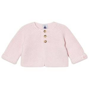 Petit Bateau Girls Jumpers and knitwear Pink Knit Cardigan Vienne Pink