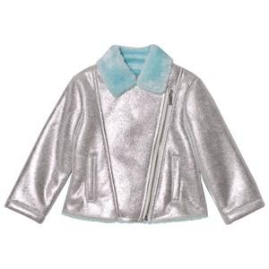 Billieblush Girls Coats and jackets Silver Silver Biker Jacket