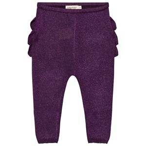 MarMar Copenhagen Unisex Bottoms Purple Pax Frill Leggings Purple Night