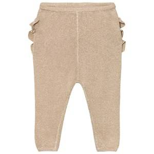 MarMar Copenhagen Unisex Bottoms Gold Pax Frill Leggings Gold
