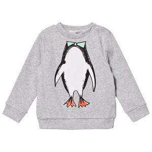 Stella McCartney Kids Unisex Jumpers and knitwear Grey Grey Penguin Print Sweatshirt
