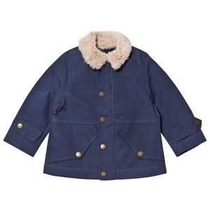 Stella McCartney Kids Boys Coats and jackets Blue Blue Luke Jacket Teddy Collar