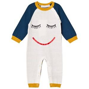 Stella McCartney Kids Unisex All in ones Cream Face Knit Tommy One-Piece Cream