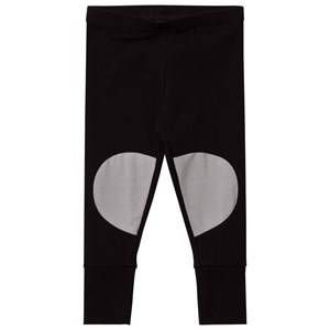 Papu Girls Bottoms Black Patch Leggings Black Grey