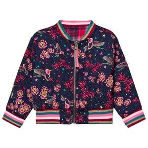 Le Big Girls Coats and jackets Navy Reversible Gemma Bomber Jacket