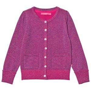 Le Big Girls Jumpers and knitwear Pink Super Pink Sparkle Cardigan