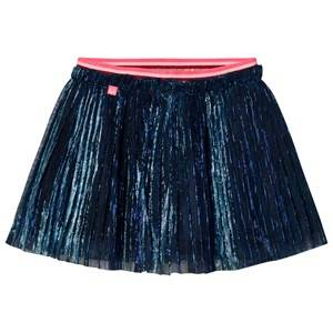 Le Big Girls Skirts Navy Navy Glitter Pleat Skirt