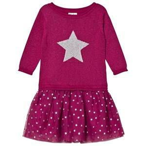 Hatley Girls Dresses Pink Pink Glitter Dress