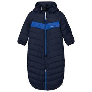 Didriksons Unisex Coveralls Blue Hassela Baby Footmuff Navy