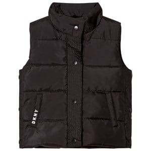 DKNY Girls Coats and jackets Black Black Reversible Gilet Faux Fur