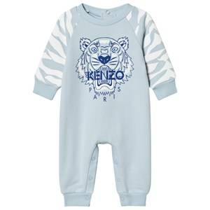 Kenzo Boys All in ones Blue Pale Blue Tiger Sweat Footless Baby Onesie
