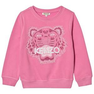 Kenzo Girls Jumpers and knitwear Pink Pink Beaded and Embroidered Sweatshirt