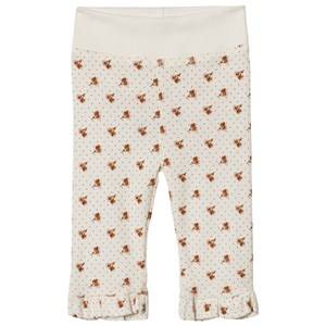 Noa Noa Miniature Girls Bottoms White Print Leggings Chalk