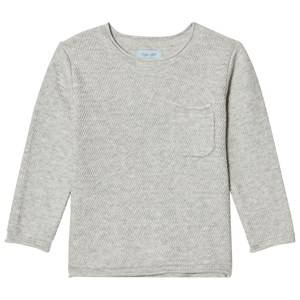 Noa Noa Miniature Boys Tops Grey Zig Zag Knit Sweater Grey