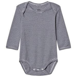Noa Noa Miniature Boys All in ones Blue Stripe Baby Body Navy