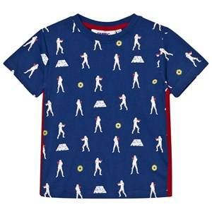 Fabric Flavours Boys Tops Blue Blue Stormtrooper Repeat Print Tee