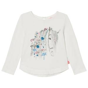 Billieblush Girls Tops White White Horse Print Tee