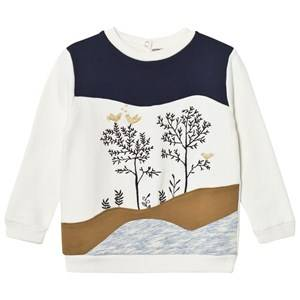 Emile et Ida Girls Jumpers and knitwear White Sweater Multicolor