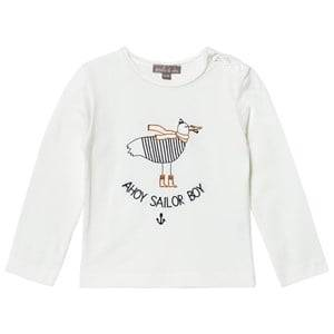 Emile et Ida Boys Tops White T-Shirt Sailor Boy Ecru
